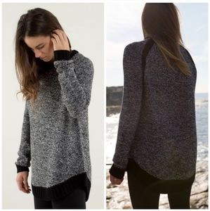 Lululemon 🌿 Passage To Prana Sweater Silver Spoon